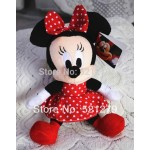 new 1pcs 28cm=11inch Minnie mouse plush soft toys,red color,best birthday gift for daughter&girls