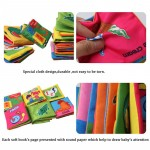 Baby Rattles Toy 6PCS Soft Cloth Book For Newborn Early Learning Education Infant Stroller Crib Pram Baby Bebe Toys 0-12 Months