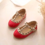 girls sandals fashion casual leather shoes baby princess shoes dancing flats baby infant fashion flats girls rivet shoes
