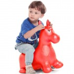 BOHS Rides on Animal Bouncy Horse  Hopper Toys Inflatable Bouncer Jumping Child Inflatable Rubber Baby 60*52*28cm