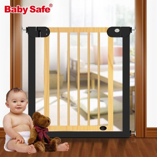 Baby Safe Gate Stair Gate Door Stop Baby Gate 7683cm Wood Safety Gate Children Security Baby Fences Pet Stairs Fence