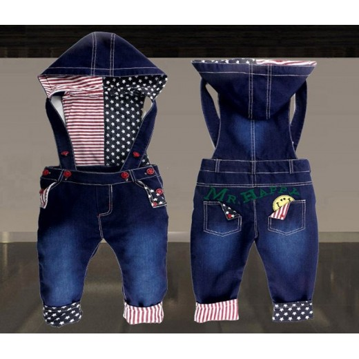 New Fashion Baby boys & girls overalls Children's long jeans trousers Kids lovely pants