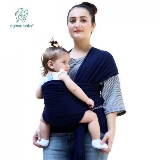 Hot Comfortable Infant Wrap Natural Cotton Hipseat Baby Sling Carrier Backpack Pouch for Postpartum Newborn Birth to 35Lbs
