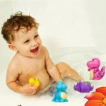 5Pcs/Set Baby Dinosaur Bath Toys Colorful Soft Rubber Float Kids Toy Mixed Animals Swimming Toys