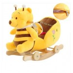 Auto Part And Supply Plush Baby Rocking Chair Children Wood Swing Seat Kids Outdoor Ride on Rocking Stroller Toy