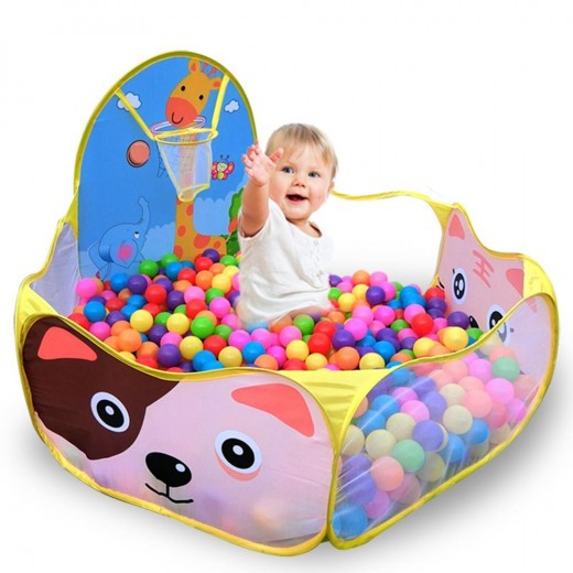 1.2M Baby Playpens+50pcs 6cm balls For Children's Foldable Kids Ball Pool Outdoor/Indoor Game Tent Activity Toy Fencing Pop Up