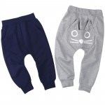 TANGUOANT Retail  spring and autumn kids clothing boys girls harem pants cotton owl trousers baby pants