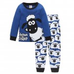 Cute Sheep Children Pajamas Sets Kids Sleepwear suit Sleeved T-Shirts Trousers Boy clothes Pj's Infant pijama Fashion Tops Pant