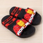 baby girls boys slippers children pvc rubber cartoon captain america Iron spiderman kids home sandal shower shoes FA031