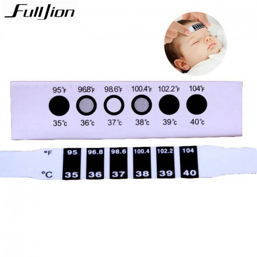 1pcs Forehead Head scale Thermometer Strip Baby ABS baby care Reusable Flexible Toddler Care Health Monitors Child Kid