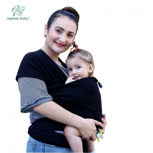 Buy Hot Selling Baby Sling Stretchy Wrap Carrier Solid Color