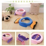 New Portable Baby Infant Chamber Pots Foldaway Toilet Training Seat Travel Potty Rings with urine bag For Kids Blue Pink