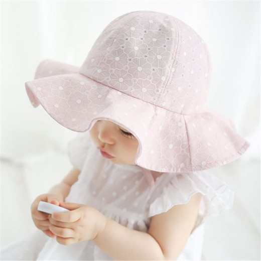 2018 Summer Lace Princess Caps for Girls Baby Bucket Hat Adjustable Sun Hat for Girls 5-12months Toddler Baby Accessories
