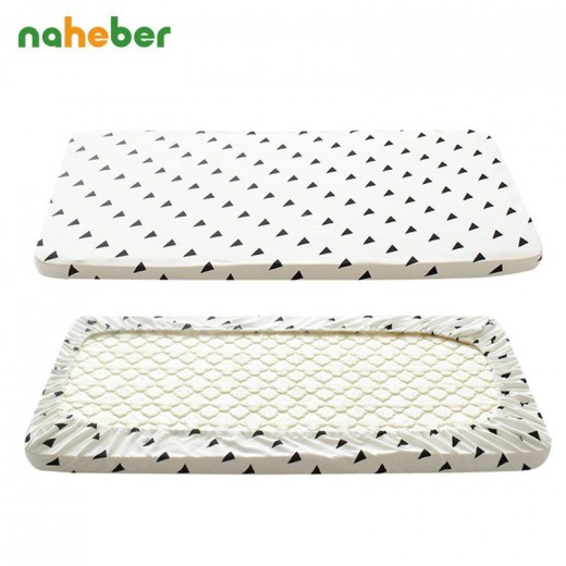 Baby Crib Fitted Sheet 100% Cotton Cute Pattern Cot Bed Sheets Newborn Baby Bedding Soft Mattress Cover Protector Two Size