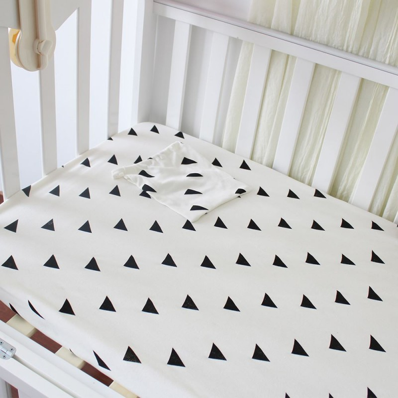 ... Baby Crib Fitted Sheet 100% Cotton Cute Pattern Cot Bed Sheets Newborn Baby  Bedding Soft ...