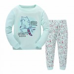 Children Cartoon Pajamas Clothing Sets Girls Casual long-sleeved Blouse+pant two-piece Suit Set Boys Kids Sleepwear Sets