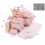 5PCS/Set Baby Diaper Bag Pregnant Mother Bags multifunctional Kid Stroller Bags Nappy Baby Bags For Mom