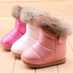 1 pair  winter The New Children boots girls Soft bottom baby thick snow boots aXZ0083