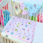 4 Size Baby Infants Cotton Mat Burp Travel Washable Diaper Pad Reusable Urine Pad Waterproof Mattress Protector Changing Pad