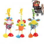Baby Toys Rattles Mobile Soft Plush Cartoon Animal Clip Crib Bed Stroller Hanging Dolls Toys for Newborn Children s