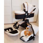 Free ship! babyfond Aulon 3 in 1 baby stroller leather two-way shock absorbers baby car cart trolley Europe baby pram gift
