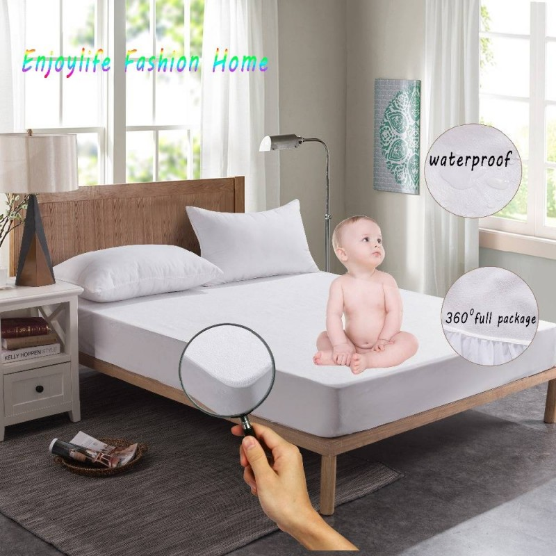 Twin Mattress Cover Bed Full Home Elastic Decor Protector Waterproof Breathable
