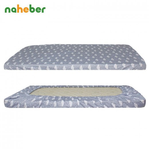 Baby Pure Cotton Crib Fitted Sheet For Newborn Cot Sheets Baby Bed Mattress Cover Cloud Elephant Crown Pattern For Infant Bed