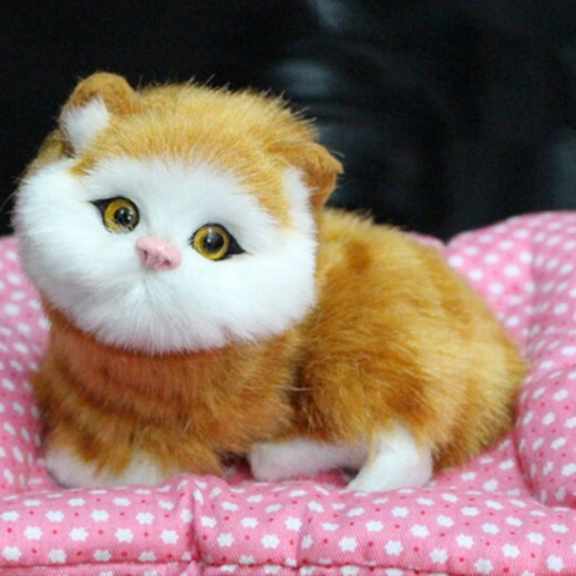 Lovely Cats Toy Animal Doll Plush with Sound Simulation Children Birthday Toy Gift Doll Ornaments Plush Toys