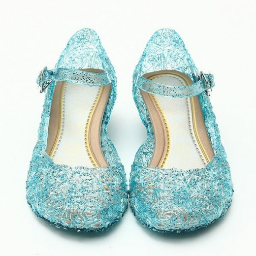 baby shoes girls sandals anna&elsa Kids baby shoes elsa princess and cosplay shoes party and Comfortable  945