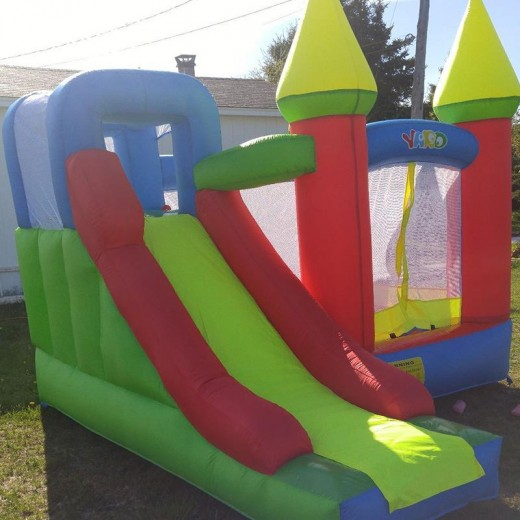 YARD bouncy castle Inflatable Jumping Castles trampoline for chIldren  Bounce House Inflatable Bouncer Smooth Slide With Blower