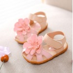 kids shoes  summer new flower princess girls shoes baby child toe cap covering girls sandals size 21-30