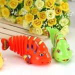 Wind up Toy Shaking Robo Fish Funny Jumps Baby Toys Model Animals Robofish Clockwork Giocattoli Vintage Infant Safety Plastics