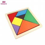 Educational Toys for Children 7 pcs New Colorful Geometry Wood Jigsaw Puzzles for Kids