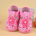 Booties for Newborns Spring Autumn Children's Shoes, Baby Girl Flower First Shoes Boots, Soft Crib Shoes for Kids Footwear