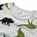 BINIDUCKLING  Boys Short Sleeve T Shirts Summer Shirt Kid Baby Children Clothing Captain Anchors dinosaur printed tshirt