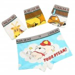 Baby Boys Panties Cartoon Kids Underwear Pants Children's Girls Briefs Cute Boxer Shorts 4Pcs/Box 3-9 Years Old