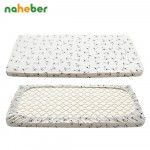 Pure Cotton Knitted Baby Fitted Sheet For Newborn Crib Mattress Protector Fashion Infant Bed Sheet for 120x65cm 130x70cm