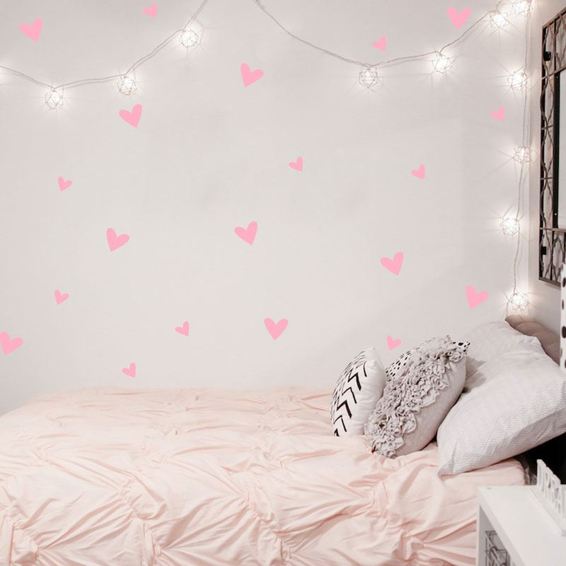 ... Heart Wall Sticker Baby Nursery Love Heart Wall Decal Kids Room DIY  Easy Wall Stickers Removable ...