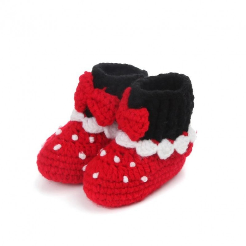 Buy 1Pair Cute Baby Girls shoes for kids Crochet Handmade