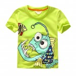 New Fashion Teenager Summer T-shirt Boy Kids Child Boys T-shirts Short Sleeve Character Baby Clothes Tops
