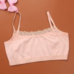 1pc Teenage Underwear For Girl Children Girls Cutton Lace Wireless Young Training Bra For Kids And Teens Puberty Clothing