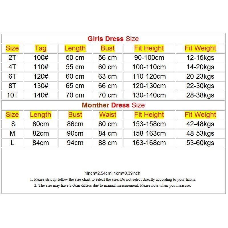 Buy Mother Daughter Dresses Summer Style Family Clothing Mom and