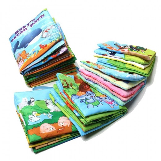 buy 10pages retail baby toys infant kids early development cloth
