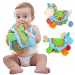 Baby Rattles Teether Toys Cute Donkey Cloth Book For Toddlers Newborn Learning Early Education Toy Spielzeug livro infantil