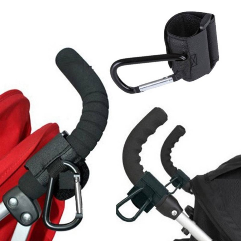 ODN Baby Stroller Hook Stroller shopping hook Accessories Pram Hooks Hanger for Baby Car Carriage Buggy Silvery
