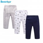 New Arrival Spring Baby Pants 100% Cotton Newborn Baby Leggings Striped Print Trousers Boy Girl Baby Clothing 3 Pieces