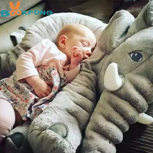 BOOKFONG 1PC 40/60cm Infant Soft Appease Elephant Playmate Calm Doll Baby Appease Toys Elephant Pillow Plush Toys Stuffed Doll