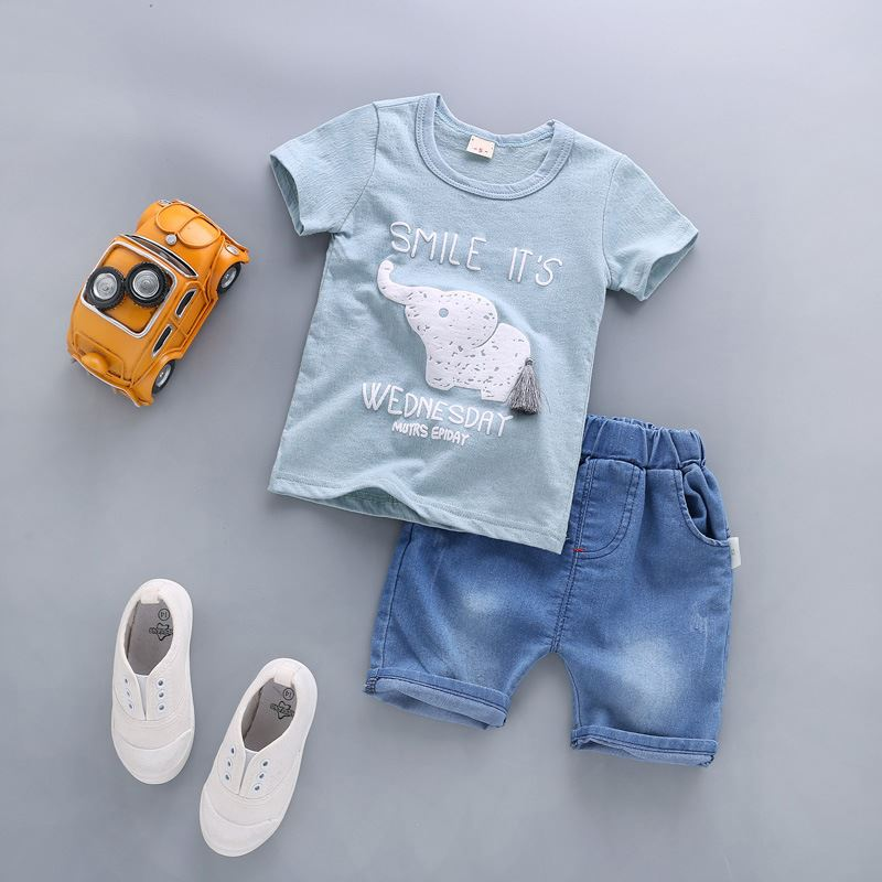4ce4a16f9 BibiCola Summer Baby Boy Clothes Sets Newborn Baby Cotton T-shirt Tops + Shorts 2PCS Outfit Tracksuit Toddler Kids Clothing Set