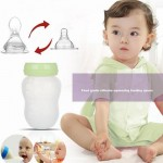 180ML Baby Bottles and Feeding Spoon Silicone Baby Feeding Cup Baby Water Bottle kids Nursing Bottles
