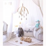 Baby Crib Mobile Bed Bell Rattle Toys Wooden Wind Chimes Tent Hanging Decorations for Kids Newborn Girl Boy Gifts Nursery Decor
